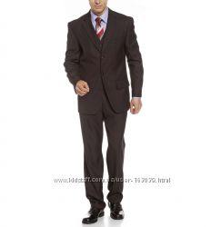 Стильный костюм-тройка для мужчин C&A, размер 52