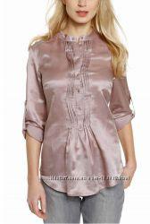 Блузка цвета кофе с молоком из хлопка и шелка с сайта C&A, р-р 48