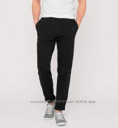 Черные хлопковые штаны стрейч с немецкого сайта C&A, р-ры 36-32, 37-30