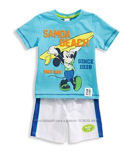 Хлопковый летний набор мальчикам - футболка и шорты, р-ры 98, 104, 110, 128