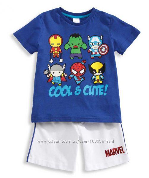 Набор для мальчиков - футболка и шорты из Германии с C&A, р-ры 104, 116
