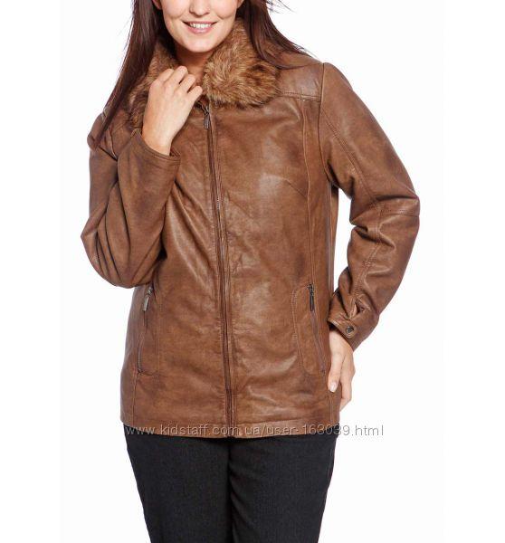 Демисезонная курточка под кожу с немецкого сайта C&A, р-р XL