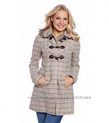 Клетчатое немецкое пальто с сайта C&A, размер 48