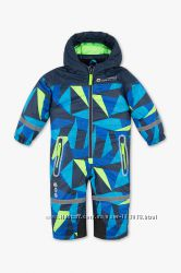 Фирменный красивый зимний лыжный комбинезон для малышей, размеры 80, 86