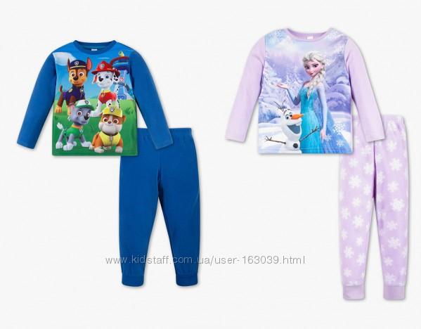 Флисовые теплые пижамки для детей с немецкого сайта C&A в наличии