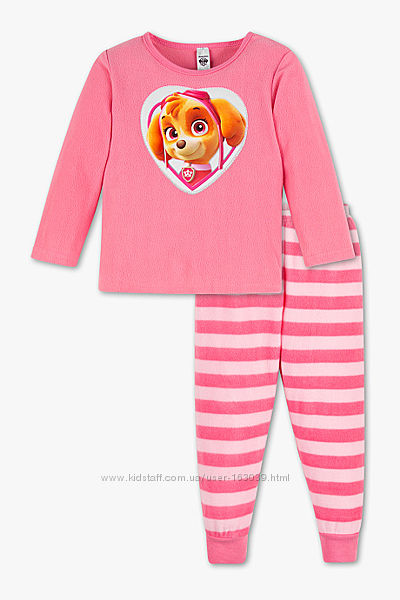 Хорошенькая флисовая пижамка девчушкам с сайта C&A, р-ры 104, 122, 128