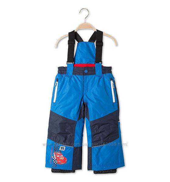 Суперовые лыжные штаны с тачками для мальчишек с C&A, р-р 92