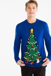 Мерцающий новогодний свитерок немецкого производства с сайта C&A, р-р L