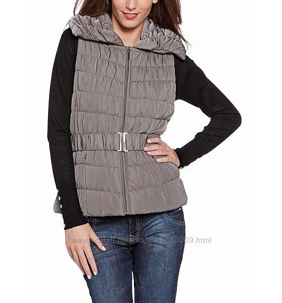 Стильная серая утепленная жилетка для женщин с С&A, размер 48