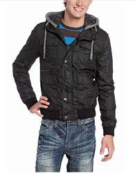 Коттоновая демисезонная утепленная куртка с теплым капюшоном, р-ры XL, 2XL