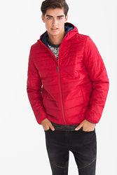 Красная демисезонная мужская куртка с немецкого сайта C&A, р-р L