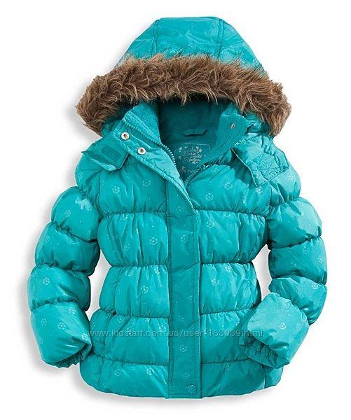 Бирюзовая классненькая курточка для девочек с C&A, размер 98