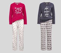 Флисовые мягкие и теплые женские пижамы с немецкого сайта C&A, р-ры S, M, L