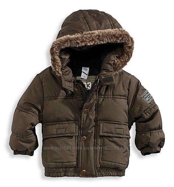 Тепленькая демисезонная курточка на флисе малышу из Германии с C&A, р-р 80