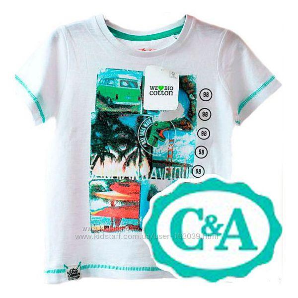 Хлопковая футболка с классным принтом из Германии с сайта C&A, р-ры 104-128