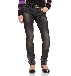Темно-серые джинсы для девочек из Германии с немецкого сайта C&A, р-р 152