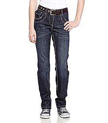 Стрейчевые темно-синие джинсы для девочек с немецкого сайта C&A, р-р 140