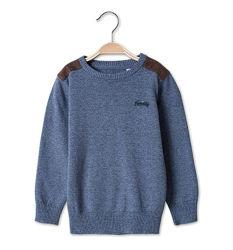 Хлопковый серо-синий меланж свитер для мальчишек с C&A, р-ры от 92 до 110