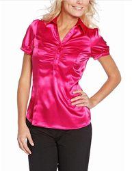 Нарядная блузка цвета фуксии из Германии с C&A, р-ры 46, 50