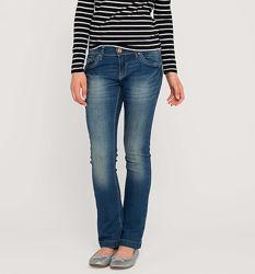 Синие стрейчевые джинсы с тонкой талией с немецкого сайта C&A, р-р 152, 158