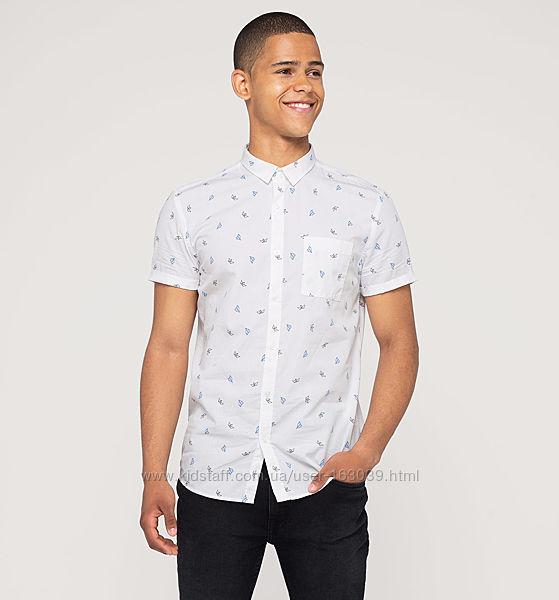 Хлопковая летняя рубашка с легким рисунком с немецкого сайта С&A, р-р 2XL