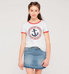 Фирменная футболка с морской тематикой из Германии с C&A, р-р от 146 до 158