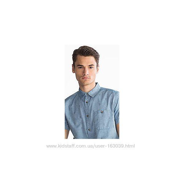 Облегченная джинсовая рубашка с немецкого сайта C&A, р-ры M, L, XL, 2XL