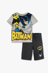 Фирменный трикотажный набор Batman футболка и шорты с C&A, р-ры 110, 116