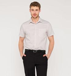 Фирменная бежевая рубашка в легкий рубчик из Германии с C&A, р-ры 48-54