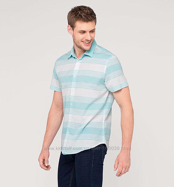 Фирменная немецкая летняя рубашка, хлопок, с сайта C&A, р-ры S, M, L, 2XL