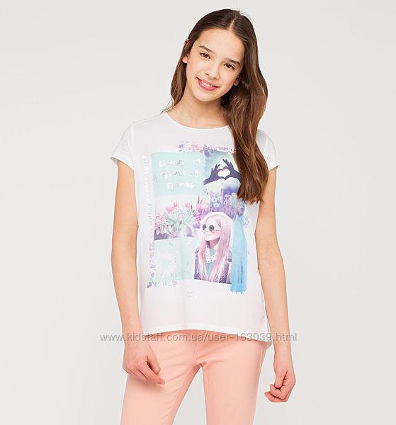 Легкая футболочка с очаровательным рисунком c C&A, р-р 158-164