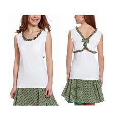Интересная футболка - блузка для девочек с сайта C&A, р-ры 122, 128, 140