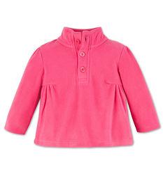 Темно-розовая теплая флиска для девчушек с немецкого сайта C&A, р-ры 86, 92