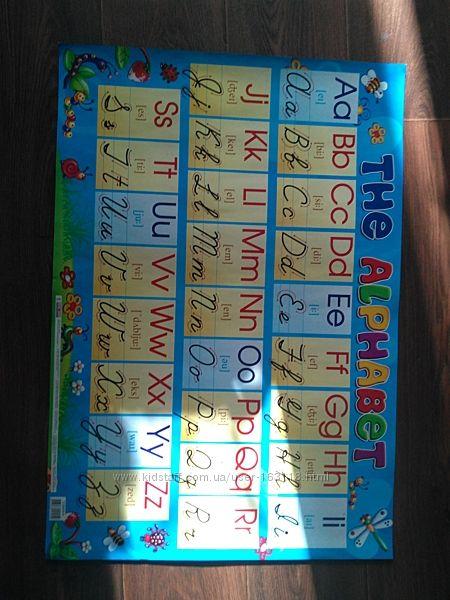 Английский алфавит плакат бу