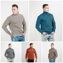 Мужской теплый свитер двойной вязки, M, L, XL, XXL, 607050-607054