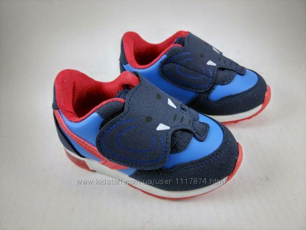 Акция 22р, 14 см Светящиеся кроссовки для мальчиков Promax Турция,1366-3