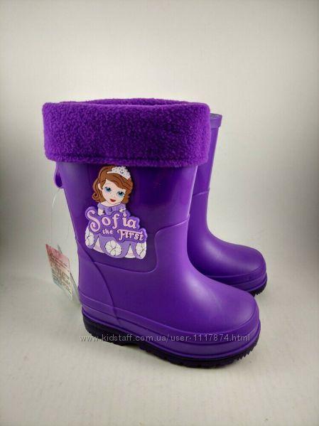 Резиновые сапоги для девочек из серии Disney Princess, размеры 26-30, J08