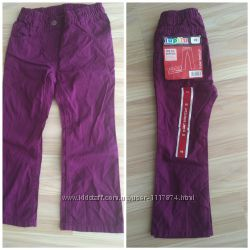 Новые легкие коттоновые штанишки для девочки Lupilu, 98 см