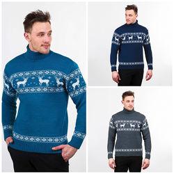 Теплый мужской свитер M, L, XL, XXL, 762382, 762355, 762308