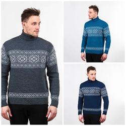 Теплый мужской свитер M, L, XL, XXL, 772382, 772355, 772308