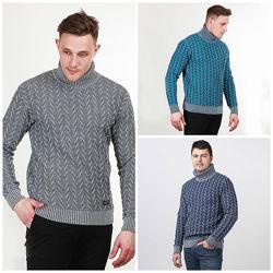 Теплый мужской свитер, M, L, XL, XXL, 610055, 610053, 610052