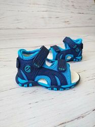 18-30р Босоножки для мальчиков Clibee Q6 blue-blue, Q8 blue-blue