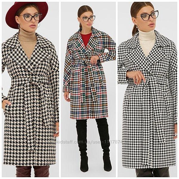 Женское демисезонное пальто, 42-50р, шерсть, акрил, вискоза, П-399-100