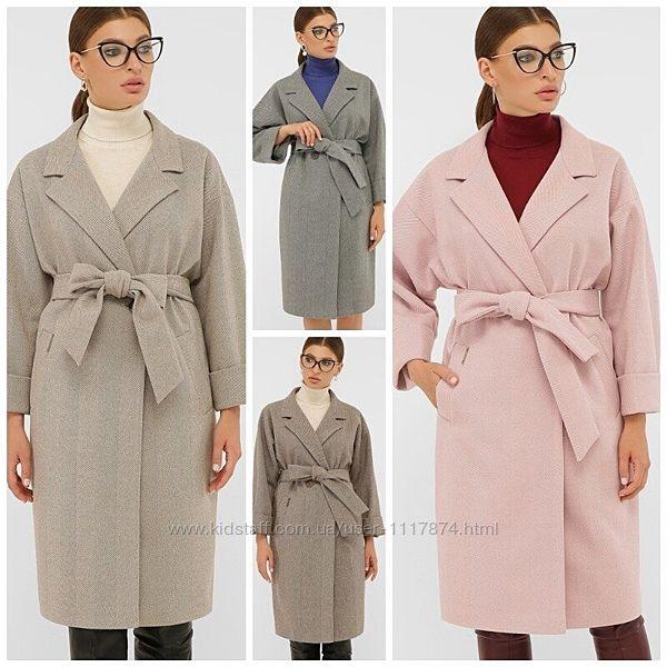 Демисезонное женское пальто, 38,40,42р, шерсть, акрил, вискоза П-300-100