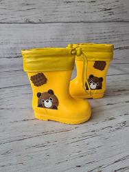 Детские резиновые сапоги, 25-30р, HMY217 yellow