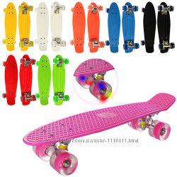 Скейт пенни penny со светящимися колесами MS 0848-2 PROFI