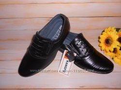 Туфли кожаные р32-35 школьные классические для мальчика ТМ Kangfu в наличи