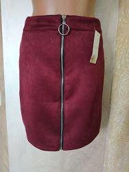 Клёвые юбочки из эко-замши 3 модельки 5 цветов Бесплатная доставка