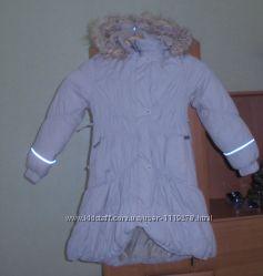 Теплое зимнее пальто парка Lenne для девочки 122