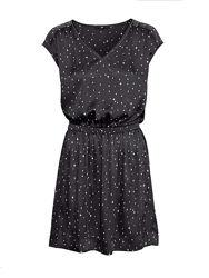 Атласное платье принт звезды